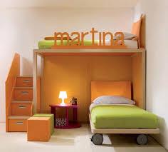 bedroom modern kids with brown espresso wooden low profile bunk