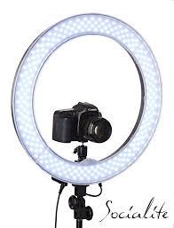 ring light for video camera socialite 18 inch led photo video ring light kit for