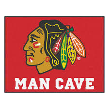 Nhl Area Rugs Fanmats Chicago Blackhawks Cave 2 Ft 10 In X 3 Ft 9 In