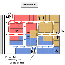 a floor plan emergency plan evacuation elements osha s