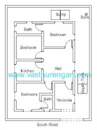 Bathroom Vastu For West Facing House House Plan For South Facing Plot With Two Bedrooms Memsaheb Net