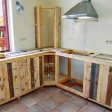 meuble de cuisine en palette fabriquer des meubles de cuisine avec des palettes en bois