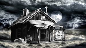 shack foggy night