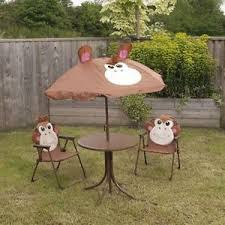 Children Patio Furniture by Garden Patio Set Kids Table Folding Chairs Umbrella Children