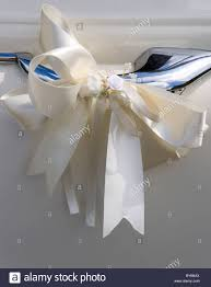 white silk ribbon religion christian weddings silk ribbon in bow on door
