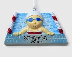 swimmer ornament etsy