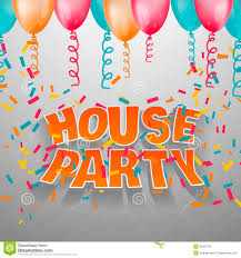 Invitation Party Card House Party Card Invitation Stock Vector Image 55422741