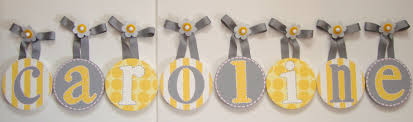 Letters For Baby Nursery Hanging Letters