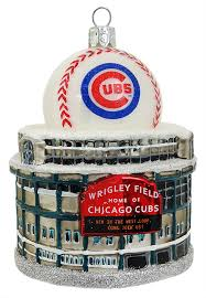 wrigley field home of the chicago cubs ornament by kurt adler