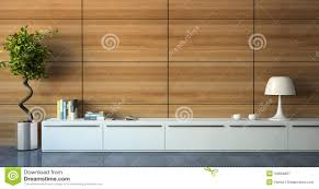 part of modern interior with wood wall royalty free stock