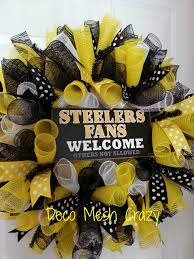 pittsburgh steelers wreath made by bay wreath designs deco mesh