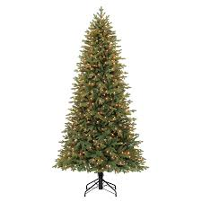 shop living 7 5 ft pre lit spruce artificial