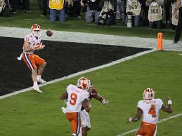 Football Penalty Flags Clemson Football Story Behind Championship Winning Touchdown Play