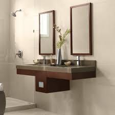 yosemite home decor vanity diy custom floating bathroom vanity design in solid natural bamboo