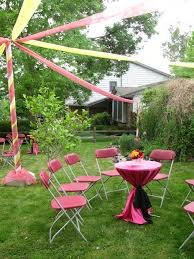 graduation parties red and yellow outdoor party http www