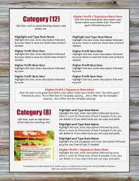 design your own restaurant menu with online menu design