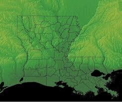 louisiana geographical map louisiana geography louisiana regions and landforms