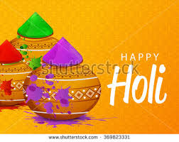 Color For Happy Illustration Colorful Gulaal Powder Color Happy Stock Vector