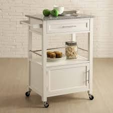linon 464808wht01u mitchell kitchen cart in white w granite top