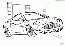 aston martin v12 vanquish car coloring transportation