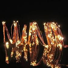 waterfall lights 6 copper light strands with warm white lights