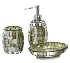 mirrored bath accessories mirrored wastebasket bath set mirrored