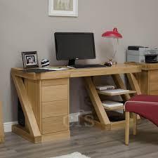 Cheap Computer Desks Uk Buy Homestyle Gb Z Oak Designer Desk Large Cfs Uk