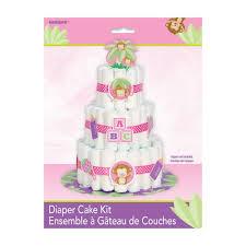 monkey baby shower nappy cake kit set of 25 amazon co uk