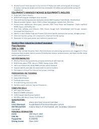 Resume Of Data Entry Operator Field Production Operator Cv