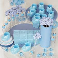 baby lot of assorted decorations for baby shower baby blue