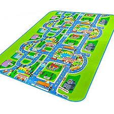 amazon com mate kids carpet rug mat city life play carpet city