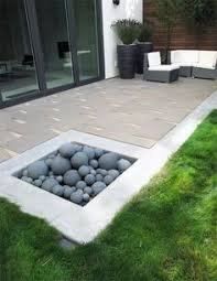 carbon black limestone flagstones modern patio landscaping