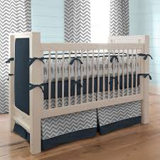 navy and gray elephants 2 piece crib bedding set carousel designs