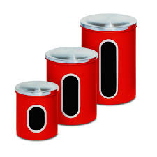 Red Kitchen Canister Set by 28 3 Piece Kitchen Canister Set Honey Can Do Steel 3 Piece
