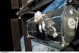 outside space nasa atlantis delivers columbus
