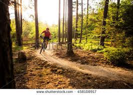 Landscape Inspiration Hiking Man Climber Trail Runner Mountains Stock Photo 400460599