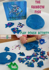 rainbow fish play dough activity rainbow fish play dough