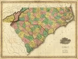 Map Of Carolinas Of North U0026 South Carolina Tanner Henry S 1823