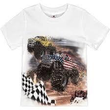 shirts boys u0027 big monster truck racing shirt