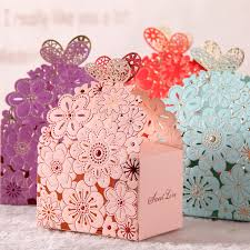 candy containers for favors 2016 blue lace butterfly laser cut wedding favor boxes wedding