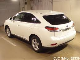 lexus rx450h cars for sale 2013 lexus rx450h white for sale stock no 52339 japanese used
