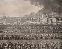 Ottoman Officials The Eid Procession March Of The Sultan And Ottoman Officials From