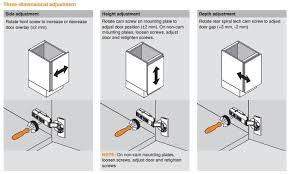 how to adjust european cabinet door hinges adjusting european hinges on cabinet doors www looksisquare com