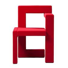 Red Modern Furniture by Gerrit Rietveld Steltman Chair Spectrum Rietveld Red Originals