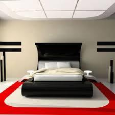 chambre design avec decor de peinture pour sol et blanc