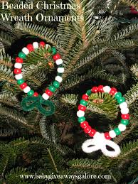 beaded christmas wreath ornament craft country fit family