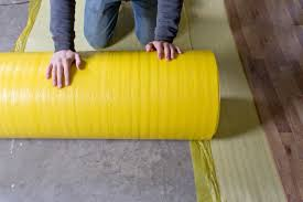 Installation Of Laminate Flooring On Concrete How To Install 2 In 1 Vapor Barrier Flooring Underlayment