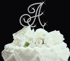 gold letter cake topper renaissance swarovski wedding cake topper silver or gold