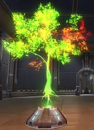 tor decorating holographic tree green