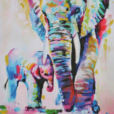 decorative artwork for homes deals finders amazon hand painted oil painting elephant